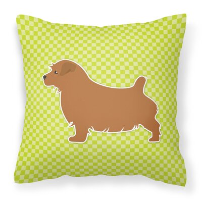Norfolk Terrier Indoor/Outdoor Throw Pillow Size: 14 H x 14 W x 3 D, Color: Green
