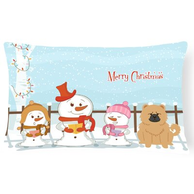 Merry Christmas Indoor/Outdoor Lumbar Pillow Color: Cream