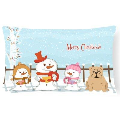 Merry Christmas Indoor/Outdoor Lumbar Pillow Color: Fawn