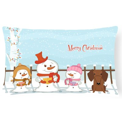 Merry Christmas Indoor/Outdoor Lumbar Pillow Color: Red/Brown
