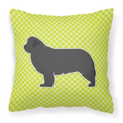 Newfoundland Indoor/Outdoor Throw Pillow Size: 14 H x 14 W x 3 D, Color: Green
