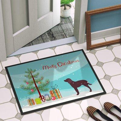 American Water Spaniel Door Mat Rug Size: 2 x 3