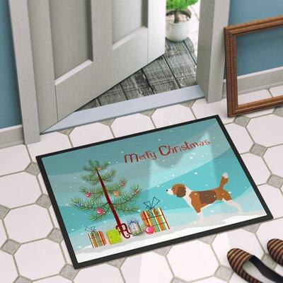 Beagle Door Mat Rug Size: 16 x 23