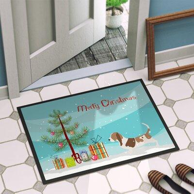 Basset Hound Door Mat Rug Size: 16 x 23