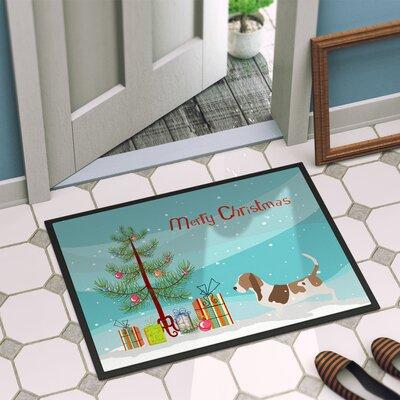Basset Hound Door Mat Rug Size: 2 x 3