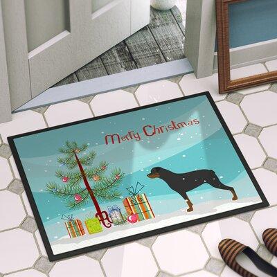 Rottweiler Door Mat Rug Size: 16 x 23