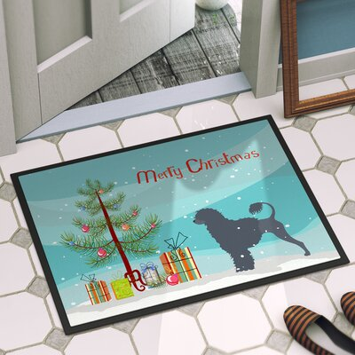 Portuguese Water Dog Door Mat Rug Size: 2 x 3