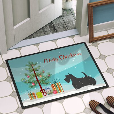 Scottish Terrier Door Mat Mat Size: 2 x 3