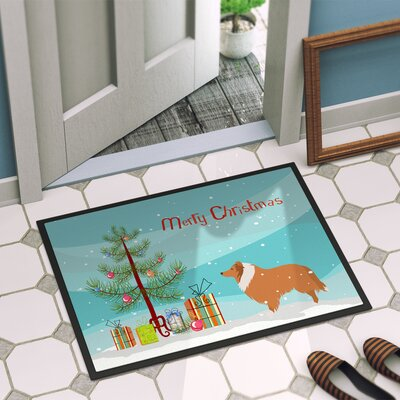 Collie Dog Door Mat Mat Size: 2 x 3
