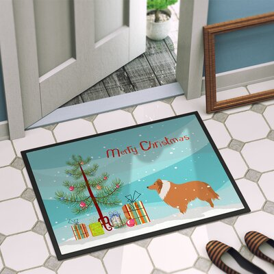 Collie Dog Door Mat Rug Size: 16 x 2 3