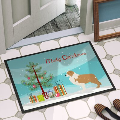Border Collie Outdoor Door Mat Mat Size: 2 x 3