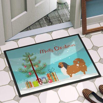 Pekingese Door Mat Mat Size: 16 x 23