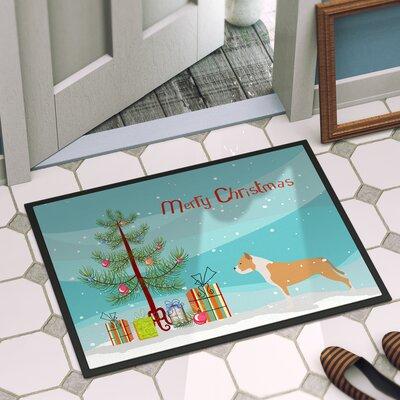 Staffordshire Bull Terrier Door Mat Rug Size: 2 x 3
