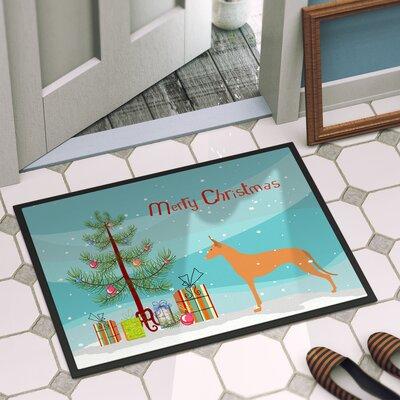Pharaoh Hound Door Mat Mat Size: 2 x 3