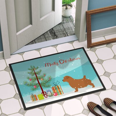 Norfolk Terrier Door Mat Rug Size: 2 x 3