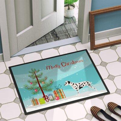 Dalmatian Door Mat Rug Size: 16 x 23