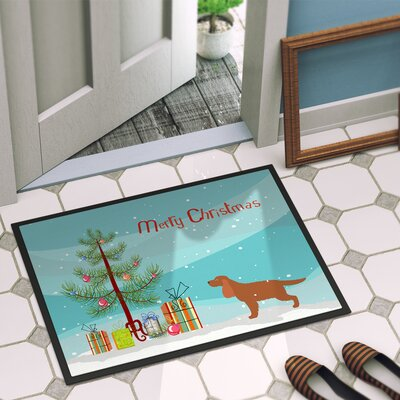 English Cocker Spaniel Door Mat Rug Size: 16 x 23