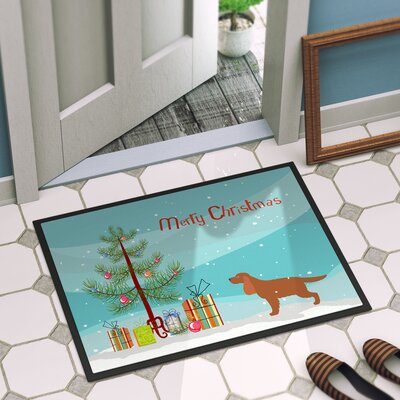 English Cocker Spaniel Door Mat Rug Size: 2 x 3