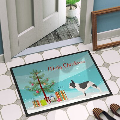 French Bulldog Door Mat Rug Size: 2 x 3