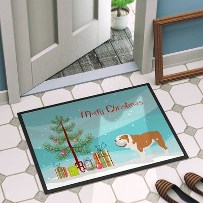 English Bulldog Door Mat Rug Size: 2 x 3