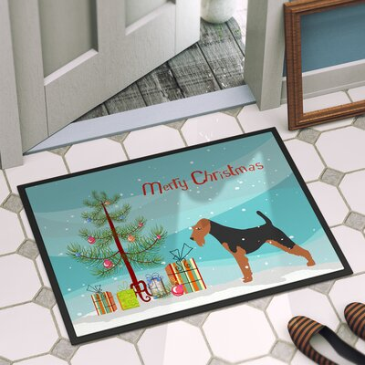Welsh Terrier Door Mat Mat Size: 2 x 3
