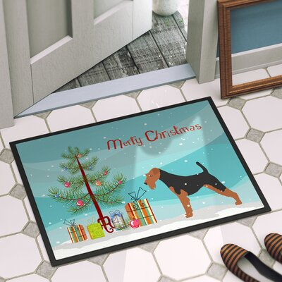 Welsh Terrier Door Mat Mat Size: 14 x 23