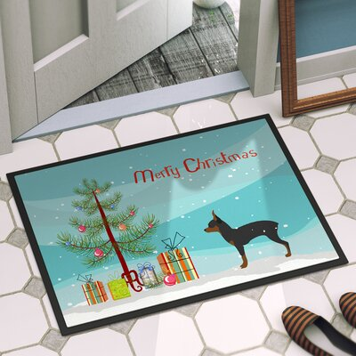 Toy Fox Terrier Door Mat Rug Size: 1 4 x 2 3