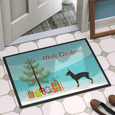 Toy Fox Terrier Door Mat Mat Size: 2 x 3