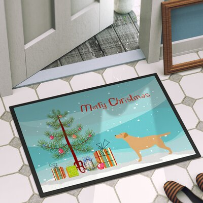 Labrador Retriever Door Mat Mat Size: 1 4 x 2 3