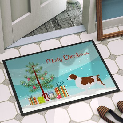 Welsh Springer Spaniel Door Mat Mat Size: 2 x 3