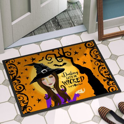 Halloween Door Mat Mat Size: 16 x 23