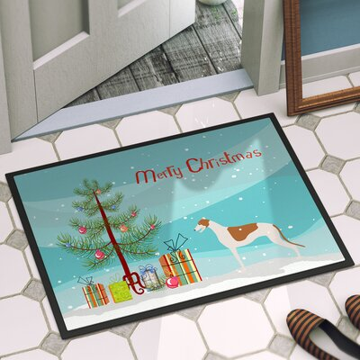 Greyhound Door Mat Rug Size: 16 x 23
