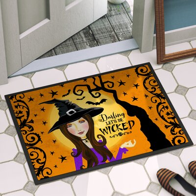 Halloween Door Mat Rug Size: 2 x 3