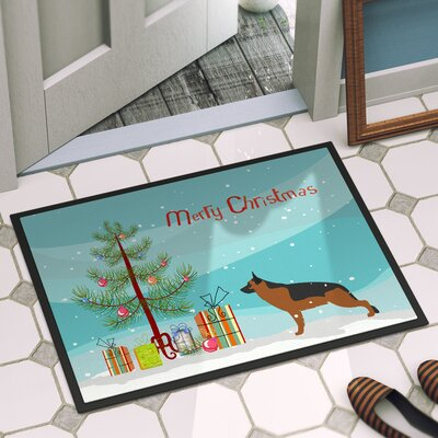 German Shepherd Door Mat Rug Size: 16 x 23