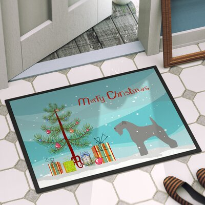 Kerry Blue Terrier Door Mat Rug Size: 16 x 23