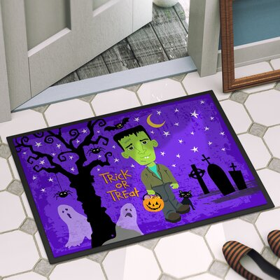 Halloween Door Mat Rug Size: 16 x 23