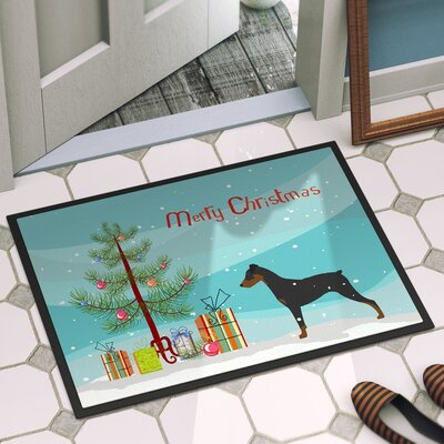 German Pinscher Door Mat Mat Size: 2 x 3