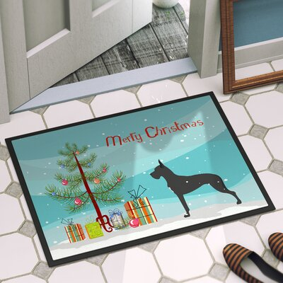 Great Dane Door Mat Rug Size: 16 x 23