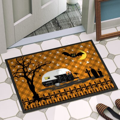 Halloween Door Mat Mat Size: 2 x 3