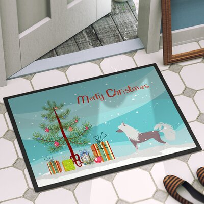 Chinese Crested Door Mat Rug Size: 16 x 23