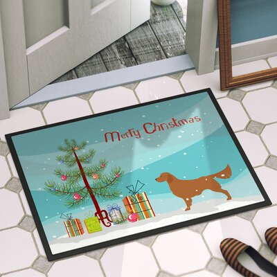 Golden Retriever Door Mat Mat Size: 16 x 23