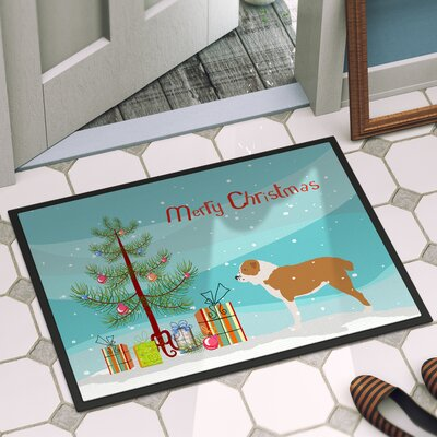 Central Asian Shepherd Dog Door Mat Mat Size: 16 x 23