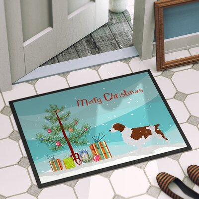 Welsh Springer Spaniel Door Mat Mat Size: 1 4 x 2 3