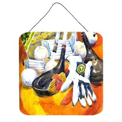 Southeastern Golf Clubs with Glove and Balls by Coe Steinwart Painting Print Plaque 6070DS66