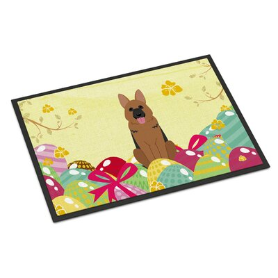 Easter Eggs German Shepherd Indoor/Outdoor Doormat