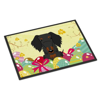 Easter Wire Haired Dachshund Indoor/Outdoor Doormat