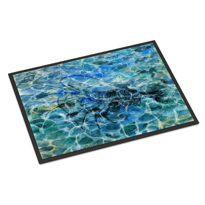 Shrimp Under Water Indoor/Outdoor Doormat