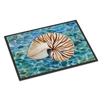 Sea Shell and Water Indoor/Outdoor Doormat