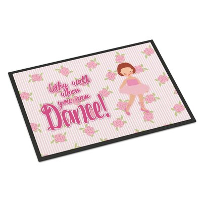 Ballet Red Short Hair Indoor/Outdoor Doormat