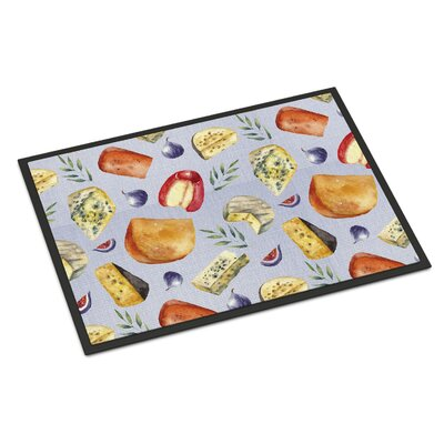 Assortment of Cheeses Indoor/Outdoor Doormat